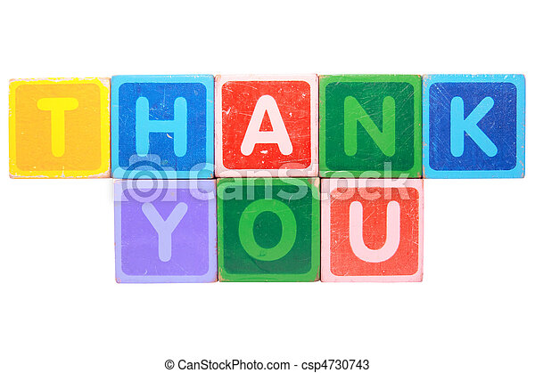 thank you in toy block letters - csp4730743