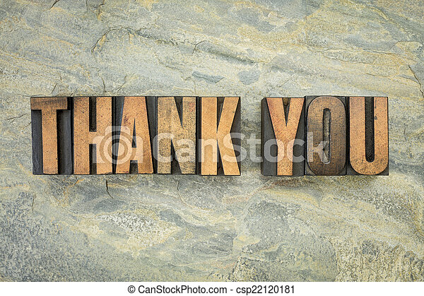 thank you in wood type - csp22120181