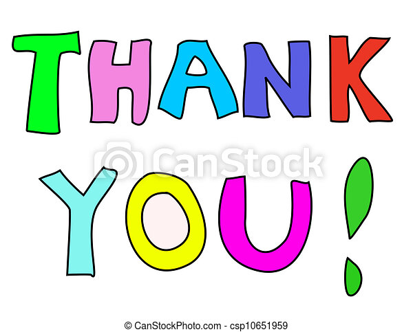 Colorful Thank You Note Stock Illustrations  Search Clipart