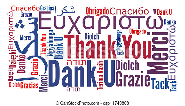 thank you phrase in different languages word cloud cultural rh canstockphoto com Black and White Thank You in Different Languages Thank You in Different Languages List