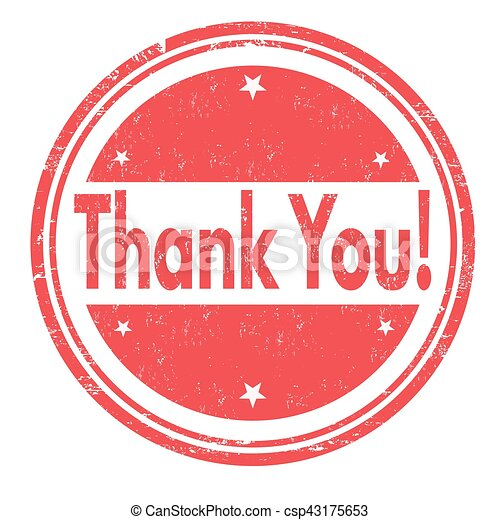 Thank you sign or stamp - csp43175653
