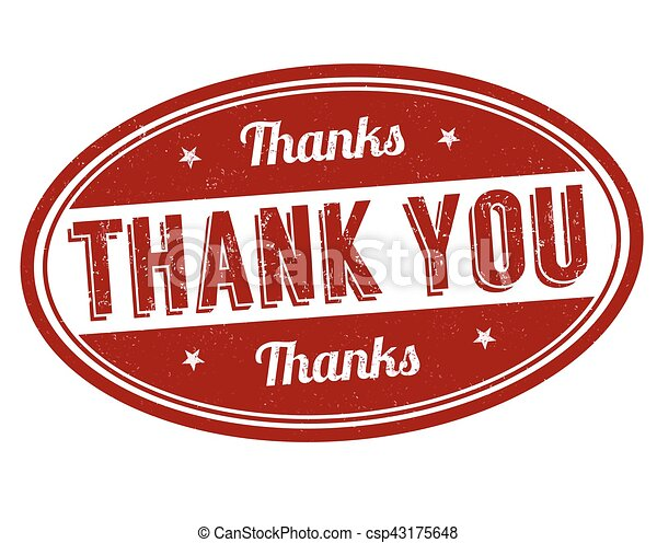 Thank you sign or stamp - csp43175648