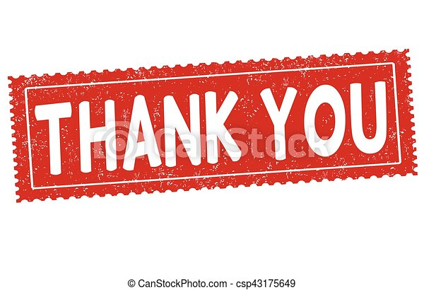 Thank you sign or stamp - csp43175649
