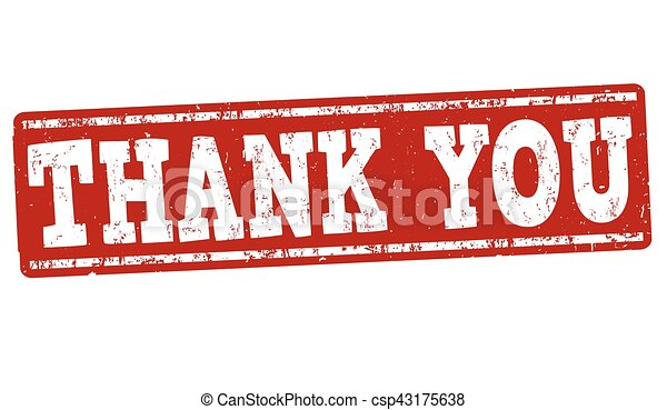 Thank you sign or stamp - csp43175638