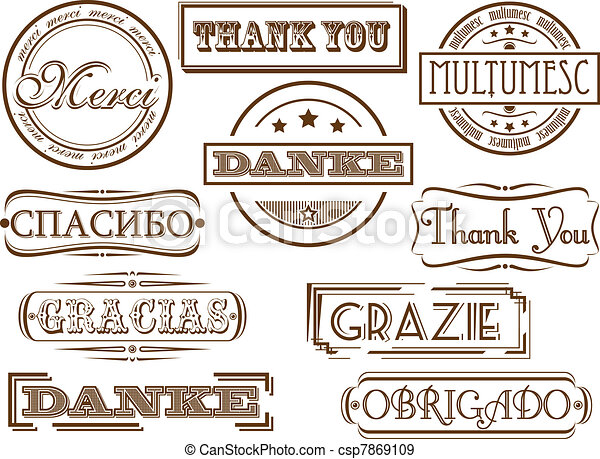 Thank you stamps  - csp7869109