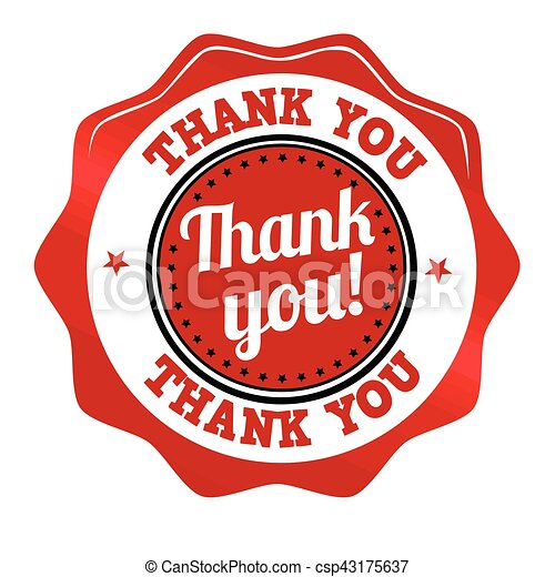 Thank you sticker or stamp - csp43175637