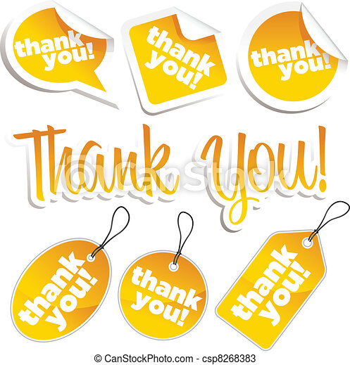 Thank you Stickers and Tags - csp8268383