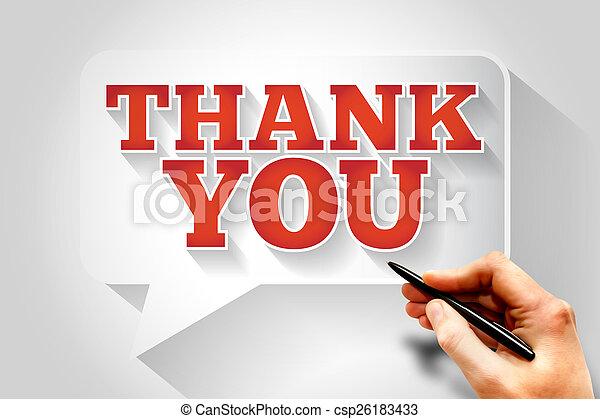 Thank You - csp26183433