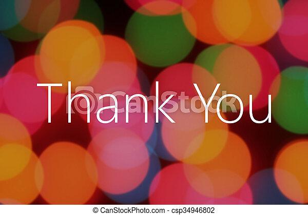 Thank You text - csp34946802