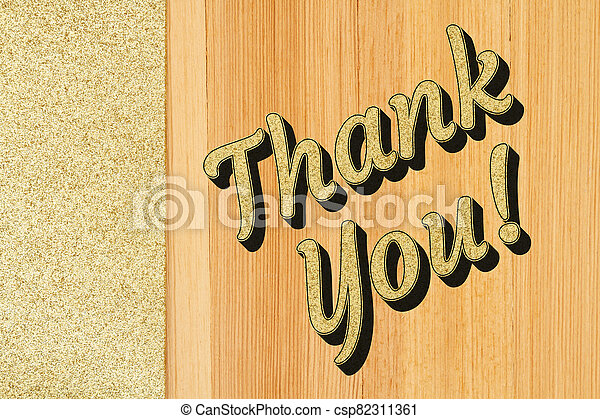 Thank You type message on wood - csp82311361