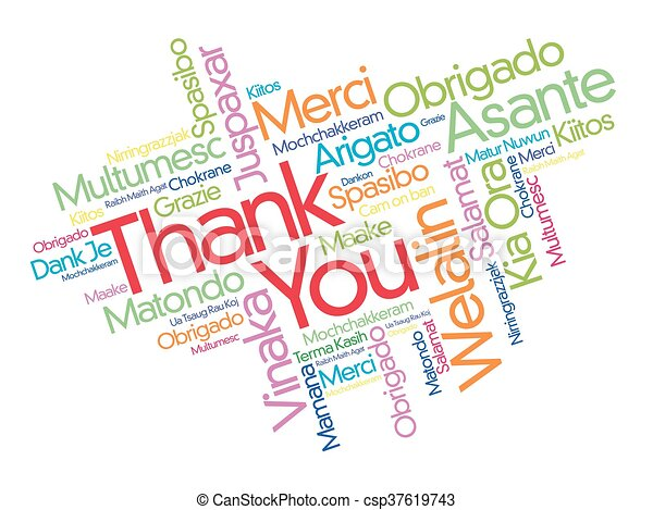 thank you word cloud in different languages concept background rh canstockphoto ca Thank You in Different Languages List thank you in many languages free clipart