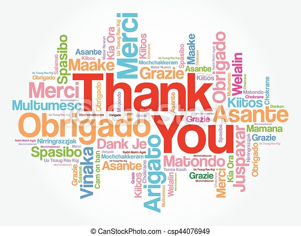 thank you word cloud in different languages concept eps vector rh canstockphoto ca thank you in many languages free clipart Thank You Clip Art