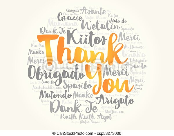 thank you word cloud in different languages concept vector rh canstockphoto com thank you in multiple languages clip art Thank You All