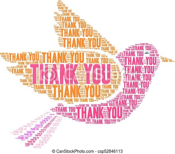 thank you word cloud thank you word cloud on a white background