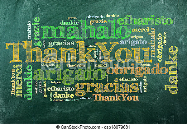thank you merci thank you in different languages on green rh canstockphoto com Thank You in Different Languages List thank you in many languages free clipart