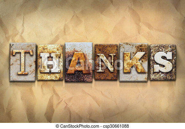 Thanks Concept Rusted Metal Type - csp30661088
