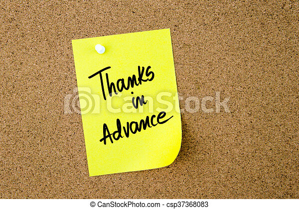 6210383e51c Thanks In Advance written on yellow paper note