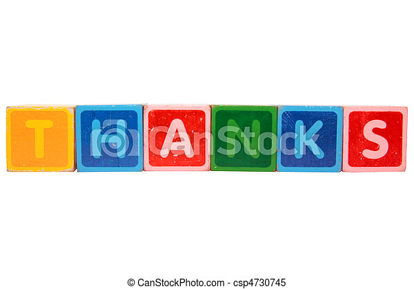 thanks in toy block letters - csp4730745