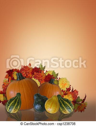 Thanksgiving Autumn Background - csp1238708