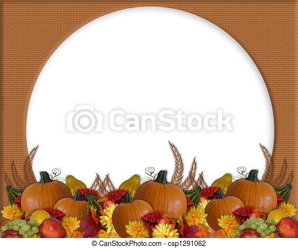 Thanksgiving Autumn Fall Background - csp1291062