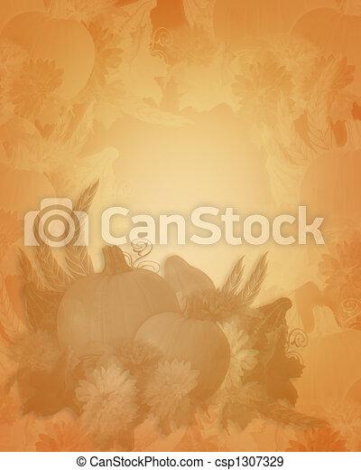 Thanksgiving Autumn Fall Background - csp1307329