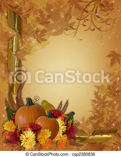 Thanksgiving Autumn Fall Background - csp2380836