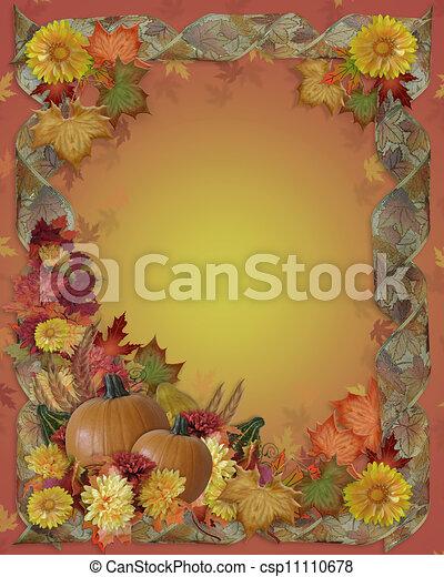 Thanksgiving Autumn Fall Background - csp11110678