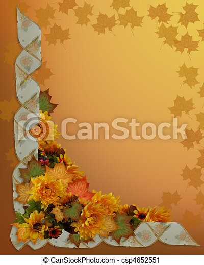 Thanksgiving Autumn Fall Border - csp4652551