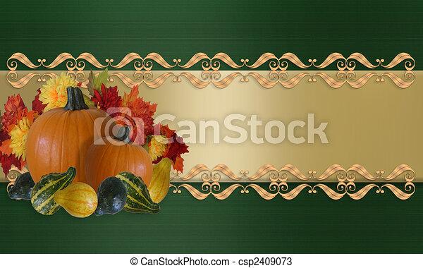Thanksgiving Autumn Fall Border - csp2409073