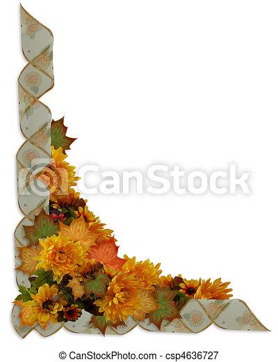 Thanksgiving Autumn Fall Border - csp4636727
