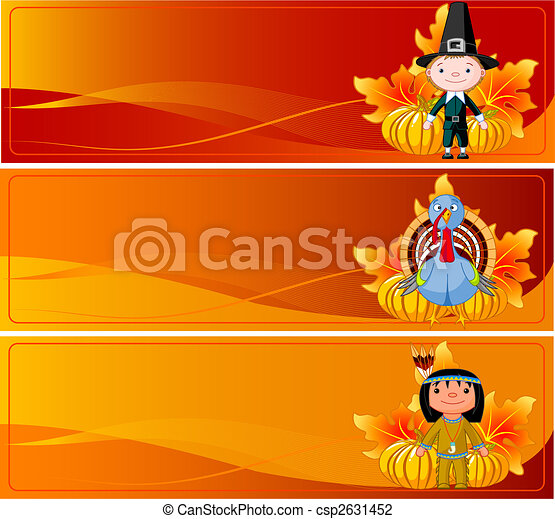 Thanksgiving Banners - csp2631452