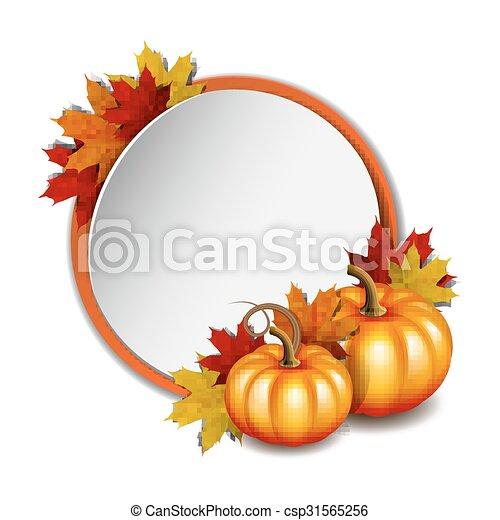 Thanksgiving Card With Pumpkins Csp31565256