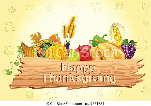 thanksgiving, carte - csp7881731