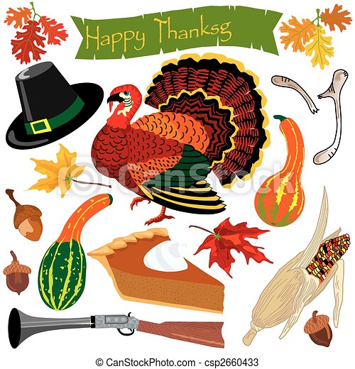 Thanksgiving clipart icons - csp2660433