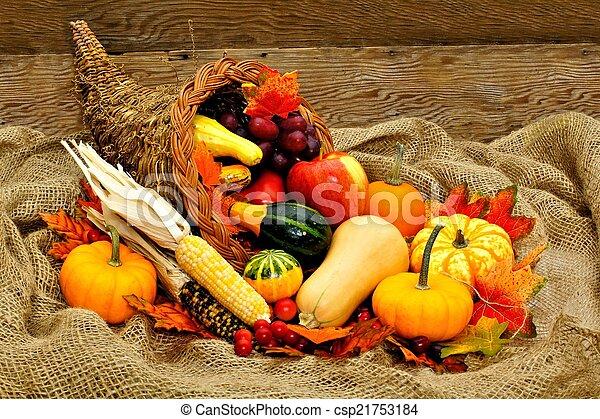 Thanksgiving cornucopia - csp21753184
