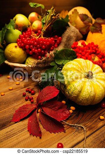 Thanksgiving day autumnal still life - csp22185519