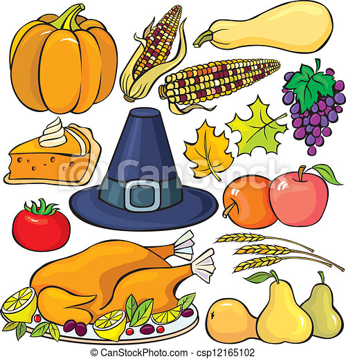 thanksgiving day icon set vector clipart search illustration rh canstockphoto com christian thanksgiving day clipart thanksgiving day clipart free