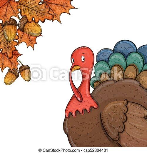 thanksgiving day illustration colorful illustration of thanksgiving
