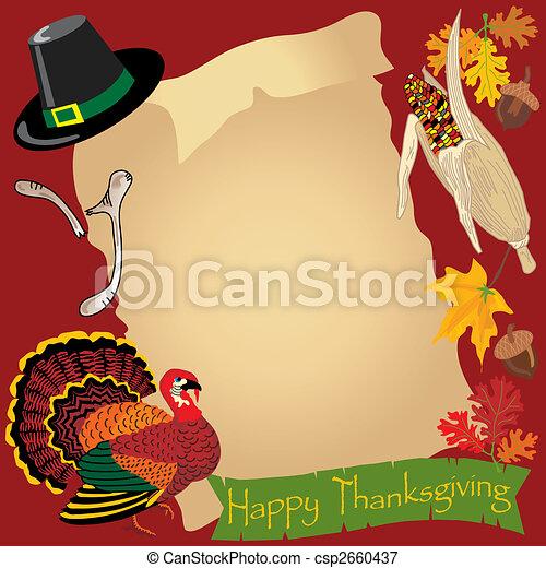 Thanksgiving day menu - csp2660437