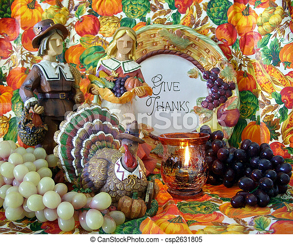 Thanksgiving Decorations Still Life Pilgrims Thanksgiving Decorations Still Life Composition For Holiday Background Or Canstock