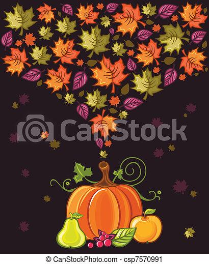 Thanksgiving Design 2 - csp7570991