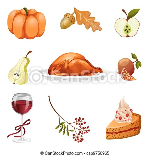 thanksgiving-elements-isolated - csp9750965