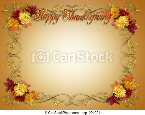 Thanksgiving Fall Autumn Border - csp1294921
