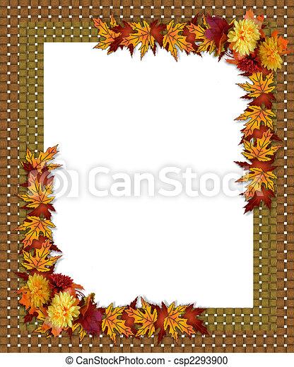 Thanksgiving Fall Autumn Border - csp2293900