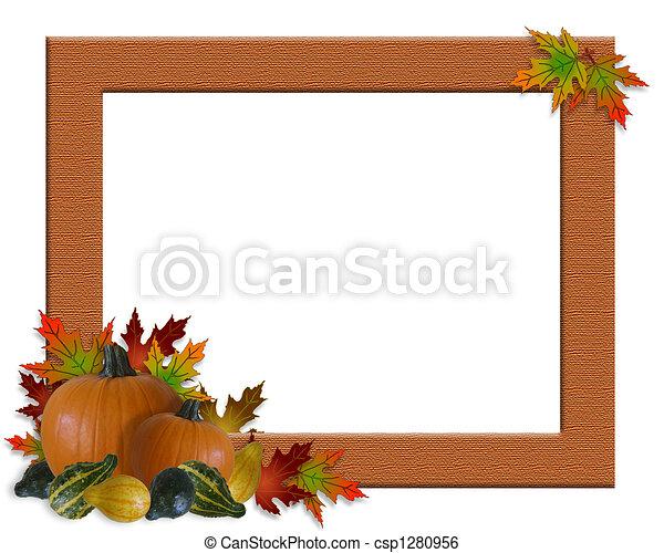 Thanksgiving Fall Autumn Frame  - csp1280956
