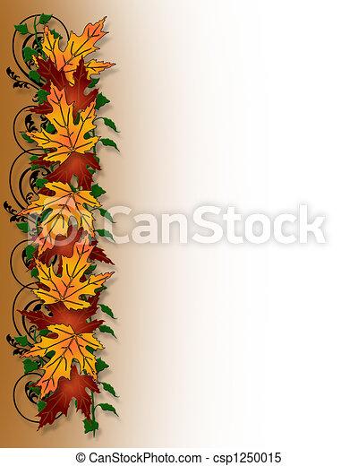 Thanksgiving Fall Leaves Border - csp1250015