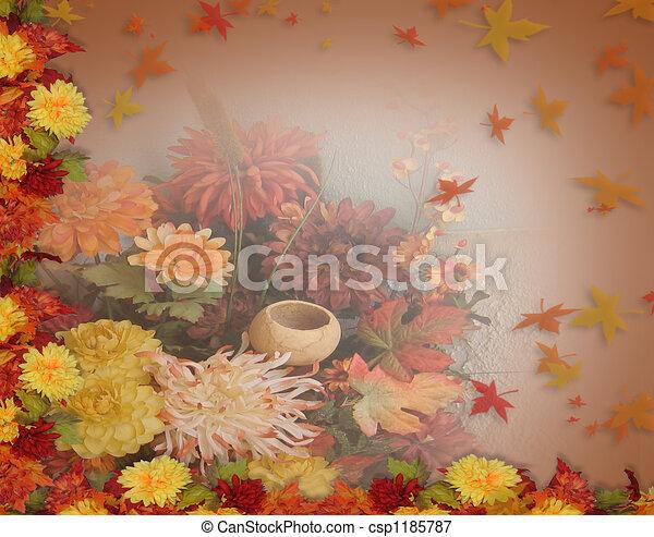 Thanksgiving Fall Leaves - csp1185787