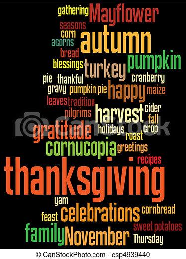 thanksgiving, heureux - csp4939440