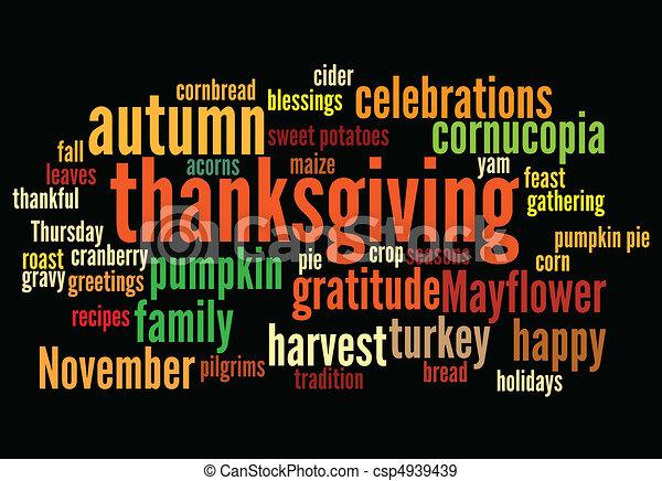 thanksgiving, heureux - csp4939439