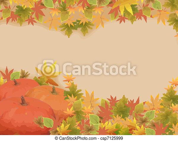 Thanksgiving holiday frame - csp7125999